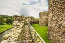 Castles of King Edward in Gwynedd - Castles and Town Walls of King Edward in Gwynedd: The outer ward and the Castle Wall Walk of Beaumaris Castle. Beaumaris Castle was never...