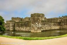 Castles of King Edward in Gwynedd - Castles and Town Walls of King Edward in Gwynedd: The outer wall of Beaumaris Castle is more than 4.5 metres thick. The...