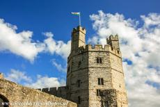 Castles of King Edward in Gwynedd - Castles and Town Walls of King Edward in Gwynedd: The Eagle Tower of Caernarfon Castle. The castle was built not only as a military...