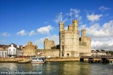 Castles of King Edward in Gwynedd - Castles and Town Walls of King Edward in Gwynedd: The Eagle Tower of Caernarfon Castle and the Caernarfon town walls. The castle and town...