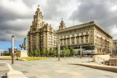 Liverpool - Mercantile City - Liverpool - Maritime Mercantile City: The Royal Liver Building (on the left hand side) was built in 1908-1911, at the time one of the tallest...