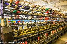 Derwent Valley Mills - Derwent Valley Mills: A ring-spinning machine in the Doubling Room of Masson Mills, one of the Derwent Valley Mills. Ring-spinning is...