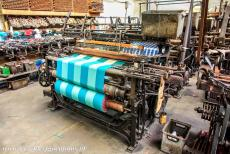 Derwent Valley Mills - Derwent Valley Mills: Looms weaving traditional cloth in the Weaving Room of the Masson Mills, now the Masson Mills Working Textile Museum. The...
