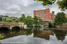 Derwent Valley Mills - The Belper North Mill is one of the Derwent Valley Mills. The original mill was founded in 1786, destroyed by fire in 1803, rebuilt in 1804....