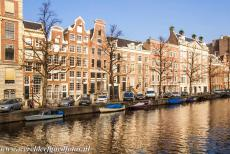 Canal Ring Area of Amsterdam - The 17th century Canal ring area of Amsterdam inside the Singelgracht: Traditional Dutch canal houses along the Keizersgracht. The...