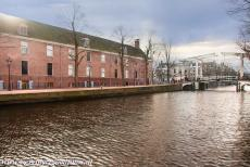 Canal Ring Area of Amsterdam - Canal Ring Area of Amsterdam inside the Singelgracht: The Walter Süskind drawbridge next to the Hermitage Amsterdam. The Hermitage...