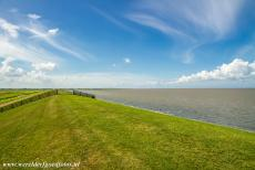 Dutch part of the Wadden Sea - Wadden Sea: The dike between the Wadden Sea and Lake Lauwersmeer was built in 1969 and is 13 km long, it has several sluices and a canal...