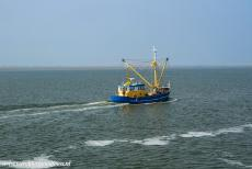 Dutch part of the Wadden Sea - A fishing boat on the Wadden Sea nearby Schiermonnikoog, the smallest of the Dutch inhabited Wadden Islands. The Wadden...