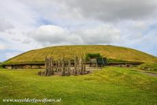 Bend of the Boyne - Knowth - Brú na Bóinne - Archaeological Ensemble of the Bend of the Boyne: A reconstruction of a timber circle in front of the Great...
