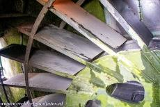 Mill Network at Kinderdijk-Elshout - Mill Network at Kinderdijk-Elshout: The scoop wheel inside the Nederwaard no. 2 windmill. The scoop wheel was driven by the sails and used to pump...