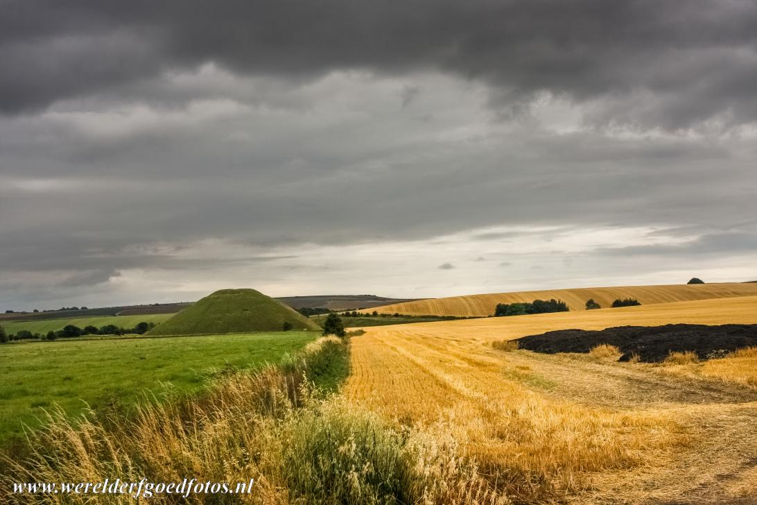 Silbury Hill - Silbury Hill is an artificial hill situated south of the village of Avebury in Wiltshire. The hill was built by prehistoric people, the...