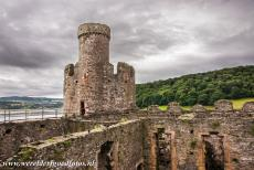 Conwy Castle and Town Walls - Castles and Town Walls of King Edward in Gwynedd: The Stockhouse Tower of Conwy Castle. Conwy Castle stands in a strategic position and...