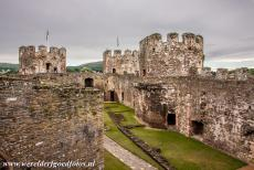 Conwy Castle and Town Walls - Castles and Town Walls of King Edward in Gwynedd: The main courtyard of Conwy Castle and the Blackhouse Tower viewed from the castle...