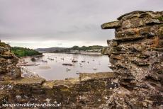 Conwy Castle and Town Walls - Castles and Town Walls of King Edward in Gwynedd: The Conwy harbour viewed from the town wall. The Conwy town walls are completely intact....
