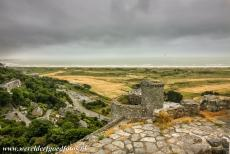 Harlech Castle - Castles and Town Walls of King Edward in Gwynedd: Harlech Castle. The watergate overlooks a fortified stairway of 127 steps that runs down to...