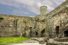 Harlech Castle - The Castles and Town Walls of King Edward in Gwynedd: The inner ward and one of the corner towers of Harlech Castle. In the 15th century, the...