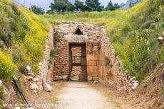 Archaeological Site of Mycenae - Archaeological Site of Mycenae: The Tholos Tomb of Aegisthus, also known as Aigisthos. The tholos tomb is dated from around 1470 BC....