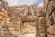 Archaeological Site of Mycenae - Archaeological Site of Mycenae: The Lion Gate is the main entrance to the fortified citadel of Mycenae. The Lion Gate was already excavated...