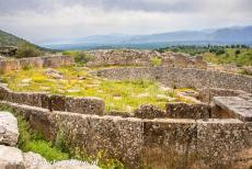 Archaeological Site of Mycenae - Archaeological Site of Mycenae: The walled enclosure contains six shaft graves, where nineteen bodies were buried. The shaft...