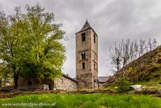Catalan Romanesque Churches of Vall de Boi - The bell tower of the Church of Sant Joan de Boí has three storeys. The first two storeys have the typical Lombard Romanesque...
