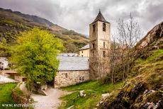 Catalan Romanesque Churches of Vall de Boi - The Church of Sant Joan de Boí was built during the 11th and 12th centuries. The nave and the two aisles are separated by Romanesque arches...