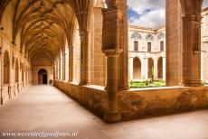 San Millan Yuso and Suso Monasteries - San Millán Yuso and Suso Monasteries: The courtyard and the Gothic cloister of San Millán Yuso. The main buildings of the...