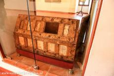 San Millan Yuso and Suso Monasteries - San Millán Yuso and Suso Monasteries: This 11th century chest was made for the relics of San Millán. It was decorated with 24...