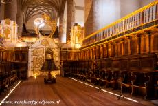 Route of Santiago de Compostela in Spain - Route of Santiago de Compostela in Spain: The church of the Monastery of San Millán Yuso. During the fall and spring equinox, the...