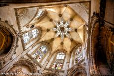 Route of Santiago de Compostela in Spain - Route of Santiago de Compostela in Spain: The dome of the Chapel of the Condestable in Burgos Cathedral. Pilgrims usually enter the...