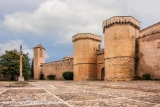 Poblet Monastery - Access to the Poblet Monastery is through the Porta Reial, the Royal Gate, the gate is flanked by two huge towers. The Royal Gate was built...