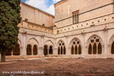 Poblet Monastery - The evolution of the Romanesque style into the Gothic style is clearly visible in the cloisters of the Poblet Monastery. The small cloister...