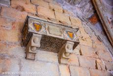 Poblet Monastery - Poblet Monastery: In the arched gallery of the cloister are many family tombs of noble people who financially supported the monastery. The...