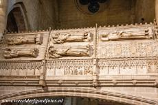 Poblet Monastery - Poblet Monastery: A detail of one of the royal tombs, the tombs are situated in the transept of the monastery church. Some of the most...