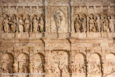 Poblet Monastery - Poblet Monastery: A detail of the 16th century Renaissance retable. The retable was sculpted by Damià Forment. The retable was made of...