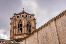 Poblet Monastery - Poblet Monastery: The octogonal tower of the monastery church was built in the Gothic style. After the monastery was damaged in the 19th...