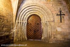Poblet Monastery - Poblet Monastery: The 12th century Romanesque doorway is the original access to the cloister. This doorway is the oldest part of the...