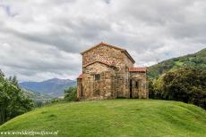 Monuments of Oviedo and Kingdom of the Asturias - Monuments of Oviedo and the Kingdom of the Asturias: The Asturian pre-Romanesque Church of Santa Cristina de Lena. The church is situated on a...