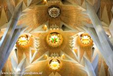 Works of Antoni Gaudí - Works of Antoni Gaudí, Barcelona: The amazing ceiling ot the Sagrada Família Basilica. The work of Gaudi was strongly inspired by...