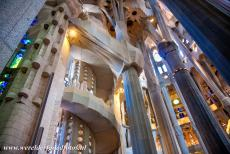 Works of Antoni Gaudí - Works of Antoni Gaudí, Barcelona: The spiral staircase inside the Sagrada Família. The Sagrada Família has three...