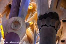 Works of Antoni Gaudí - Works of Antoni Gaudí, Barcelona: The coloured columns of the Sagrada Família. The light and colours inside the basilica...