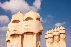 Works of Antoni Gaudí - Works of Antoni Gaudí, Barcelona: The chimneys and vents on the roof of Casa Milà. Antoni Gaudí is probably the most...