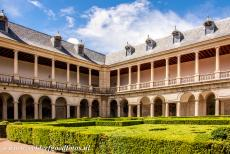 El Escorial in Madrid - Monastery and Site of the Escorial in Madrid: The Galeria de Convalecientes is a south-facing garden of the El Escorial. The...