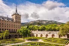 El Escorial in Madrid - Monastery and Site of the Escorial in Madrid: The Jardin de la Reina is the private Garden of the Queen. El Escorial in Madrid has several...