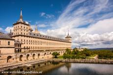 El Escorial in Madrid - Monastery and Site of the Escorial in Madrid: The interior of El Escorial is adorned with marble and frescoes. El Escorial was designed by...