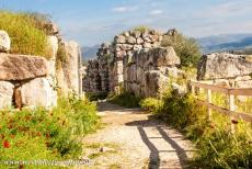 Archaeological Site of Tiryns - Archaeological Site of Tiryns: The entrance passage to the Great Gate, the main entrance to the citadel of Tiryns. The Great Gate was...