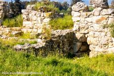 Archaeological Site of Tiryns - Archaeological Site of Tiryns: The entrance to a passage, the casemates and store rooms. The eastern side of the citadel of Tiryns was...