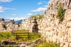 Archaeological Site of Tiryns - Archaeological Site of Tiryns: The cyclopean wall nearby the underground passage, the wall was erected between the 14th and 13th...