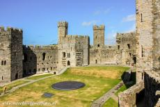Caernarfon Castle - Caernarfon Castle: The Dais was used for the investiture of the Prince of Wales in 1969. Caernarfon Castle is located in the former...