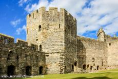Caernarfon Castle - Castles and Town Walls of King Edward in Gwynedd: The Well Tower and kitchen of Caernarfon Castle.