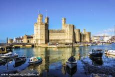 Caernarfon Castle - Castles and Town Walls of King Edward in Gwynedd: Caernarfon Castle. Caernarfon Castle is one of the most famous castles of Wales.